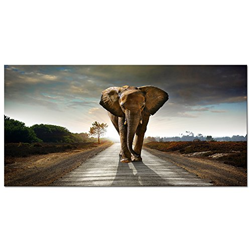 Wieco Art - Elephant Canvas Paintings Wall Art One piece Mod