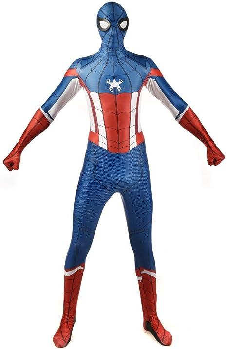 Disfraz Captain America Adulto Traje De Spiderman Nino Disfraz ...