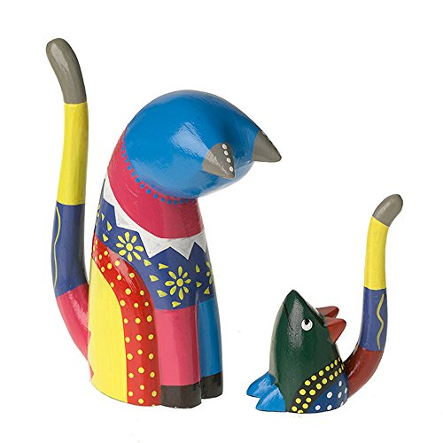 Hand Painted Cat and Mouse Ring Holders by Taraluna - Fair Trade, Organic, Green & Ethical Gifts