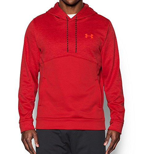 Under Armour Men's Storm Armour Fleece Twist Hoodie, Red/Black, Small