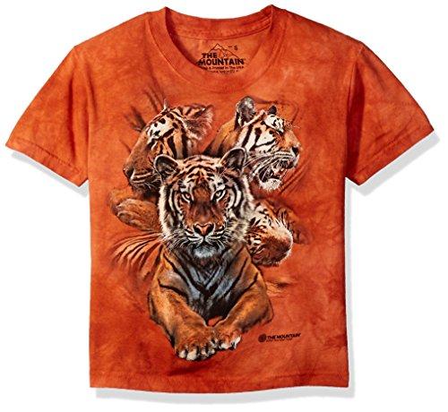 The Mountain Resting Tiger Coll Child T-Shirt, Orange, Medium