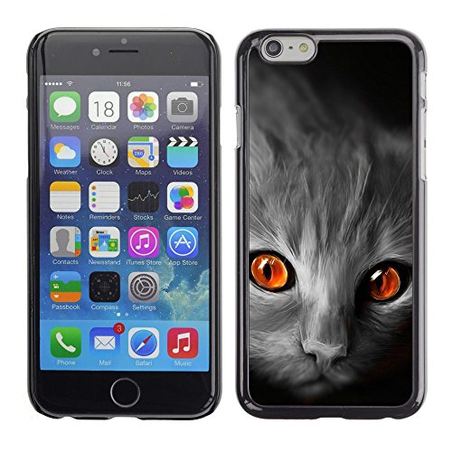 GooooStore/Housse Etui Cas Coque - Cat Orange Eyes Grey Face Red Fire Flames - Apple iPhone 6