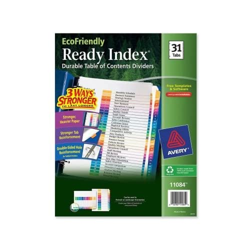Nice AVE11084 - Ready Index Customizable Table of Contents Multicolor Dividers free shipping