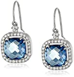 Kalan by Suzanne Kalan 14k Gold Blue Topaz Drop Earrings