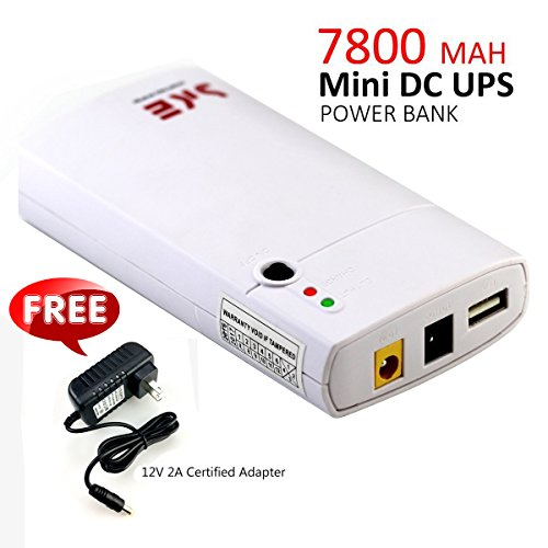 2017 Kitbox GM312 Mini UPS Uninterruptible Power System/Supply 11-13V Input Voltage 5V 1A USB Output 7800MAH DC Power Bank Portable Power For 12V 2A Applications Protection 【Cetified Adapter for Free】