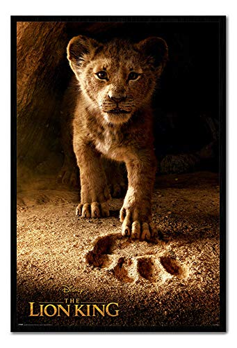 Approx 38 x 26 inches The Lion King Movie Future King Poster Cork Pin Memo Board Black Framed 96.5 x 66 cms