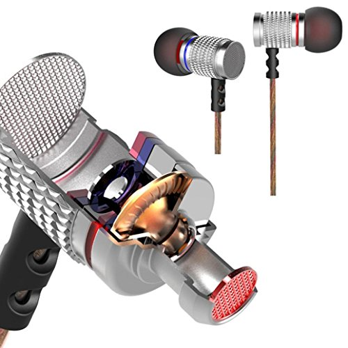 Gaming Headset, BESSKY KZ-EDR2 in Ear 3.5mm Metal Earphone Headphone Headset for Cellphone MP3 Player Without a Microphone