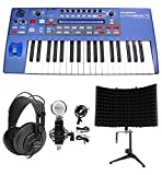 Novation UltraNova 37-Key USB MIDI Keyboard Synth+Headphones+Mic+Foam Iso Shield