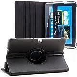 Saxonia Samsung Galaxy Note 10.1 (GT-N8000) Coque Tablette Case étui Housse de Protection Support fonction (360° rotatif) Cover Qualité Supérieure Noir