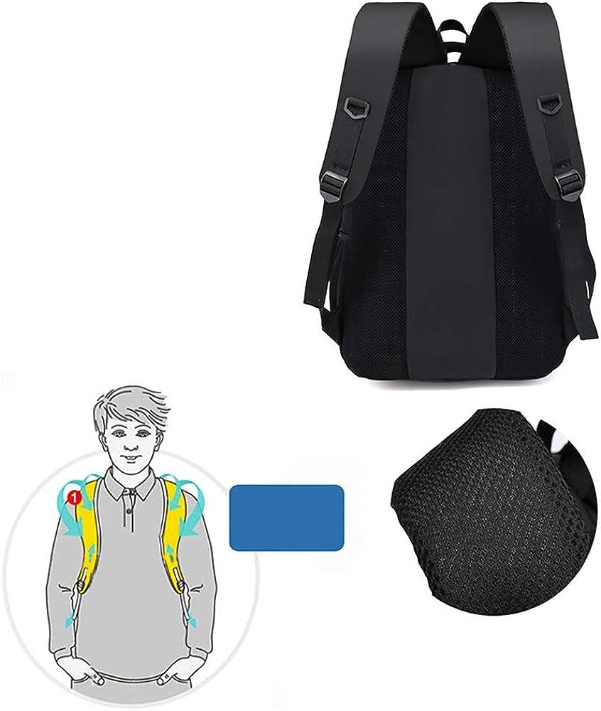Black for Women and Men Waterproof Resistant College School Computer Bag Travel Laptop Backpack Fits 15.6 Inch Laptops