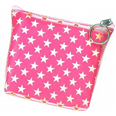 3D Lenticular Coin Pruse - Pavia, with YKK Zipper, STARS, PINK, WHITE,
