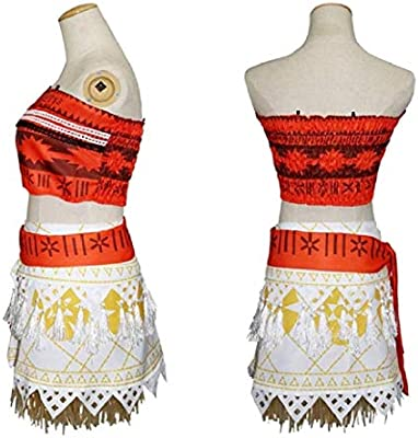 El disfraz completo de carnaval de vaiana moana incluye el collar ...