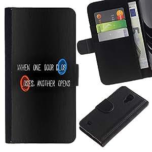 UNIQCASE - Samsung Galaxy S4 IV I9500 - Portal One Door - Cuero PU Delgado caso cubierta Shell Armor Funda Case Cover