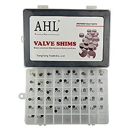 AHL 47pcs 7.48mm O.D. 1.20mm-3.50mm Thick Adjustable Valve Shim Kit for Suzuki GSX-R1100 1993-1998