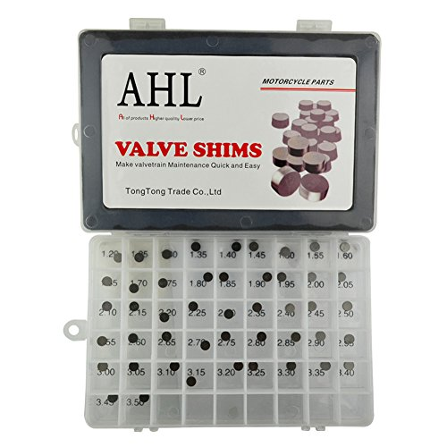 AHL 7.48mm O.D. 1.20mm-3.50mm Thick Adjustable Valve Shim Kit for Honda NPS50 Ruckus 2003-2005 (47pcs)