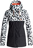 DC Women's Cruiser Tailored Fit Snow Jacket, Snow Leopard, L