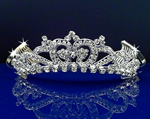 [Rhinestones Crystal Wedding Bridal Prom Pageant Princess Costume Tiara Crown 5723Lb] (Beauty Pageant Queen Costume)