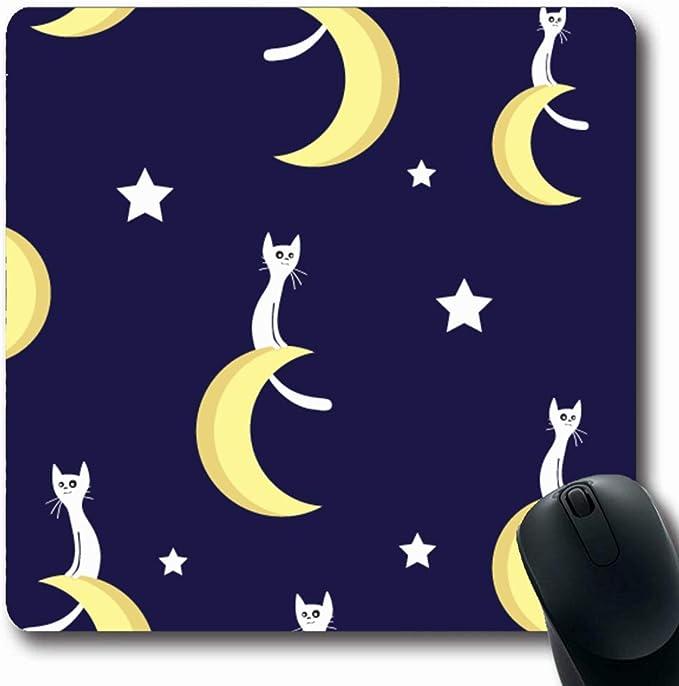 Alfombra Oblong Anuncio Azul Noche Gatos Lunas Estrellas ...