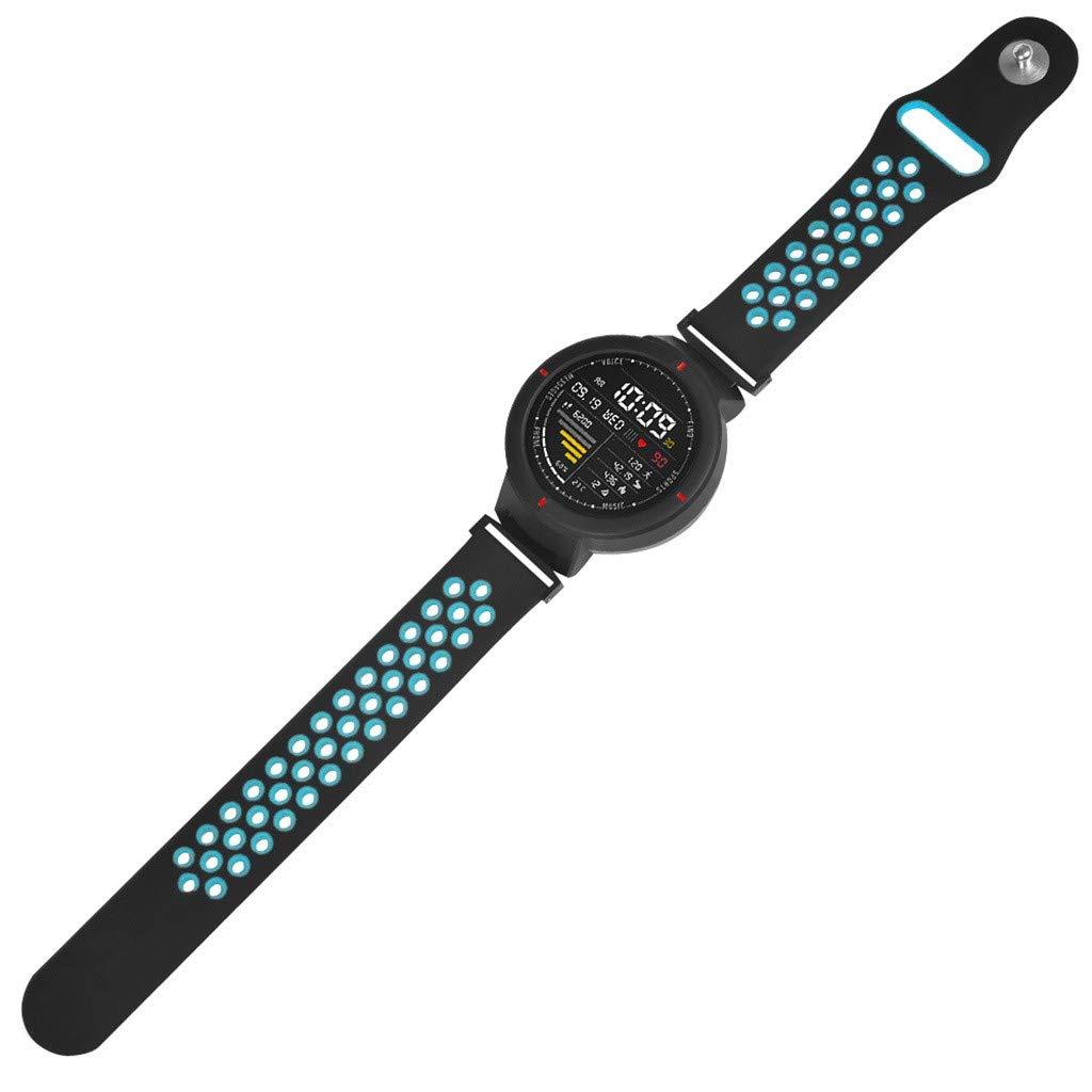Hunpta@ Huami Amazfit Verge Bracelet de Montre Sports de Rechange en Silicone,Dragonne Molle de Bracelet de Montre de Remplacement de Silicone de Sports pour Huami Amazfit Verge