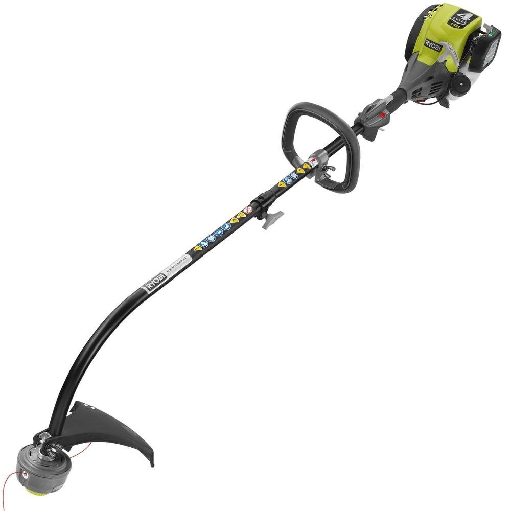 Ryobi RY4CCS 4-Cycle 30cc Attachment Capable Curved Shaft Gas Trimmer