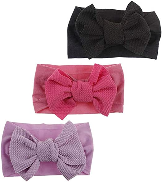 Baby Girl Nylon Headbands Newborn Infant Toddler Hairbands Turban Bun Child Hair