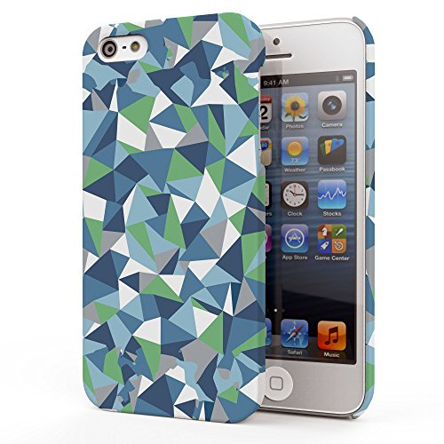 Koveru Back Cover Case for Apple iPhone 5S - Blue green Abstraction
