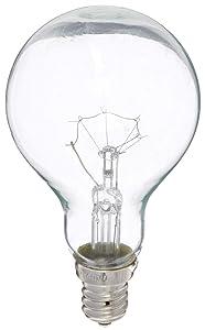 Feit Ceiling Fan Bulb 40W 120V Clear Candelabra E12 Base BP40A15C/CL/CF (2 PACK)