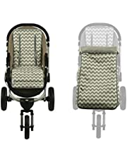 Keep Me Cosy™ Footmuff and Pram Liner 2 in 1 Set Toddler Size - Grey Chevron