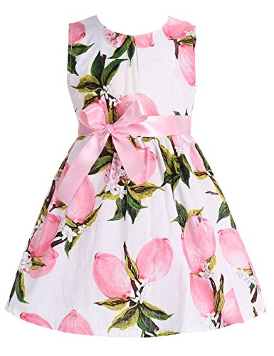 Kids Summer Dress (Fubin Kid Girl Floral Cotton Dresses Summer Clothes Pink Lemon height 57''/7-8 Years)