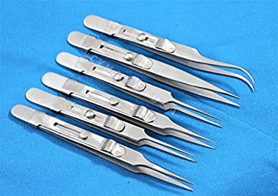 German Steel watchmaker Repair Anti-static Jewelry Tweezers Pick-UP Tools Set