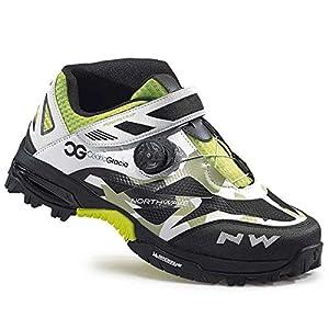 51XFOhs8a7L. SS300 Northwave Enduro Mid MTB bicicletta scarpe nero/bianco/verde 2016