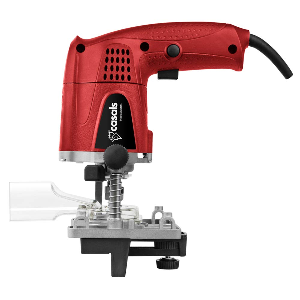 Recorrido Vertical 0-30 mm 26.000 RPM Fresadora perniadora 430 W CASALS FC14 Red FC14 Pinza 6 mm Roja Adaptador para Extractor de Polvo