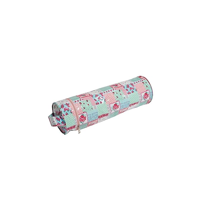 Hobby Gift MR4699\263 - Charcoal Polka Dot Soft Knitting Pin Case Matt PVC