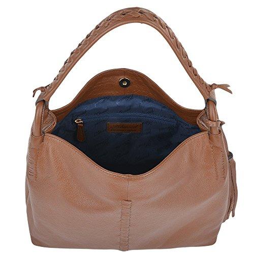 d85f2c4bbc Ashwood Womens Leather Hobo Shoulder Bag Tan   61634 NA  Amazon.co.uk   Shoes   Bags