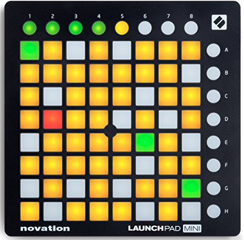 Novation Launchpad Mini Grid Controller Bundle with USB Hub and Austin Bazaar Polishing Cloth