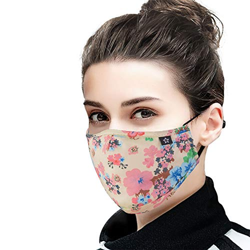 Cotton Dust Face Mask with replaceable PM2.5 Activated Carbon Filter Air Pollution Mask for Running, Traveling, Cycling Washable and Reusable Warm Windproof Mask (13)