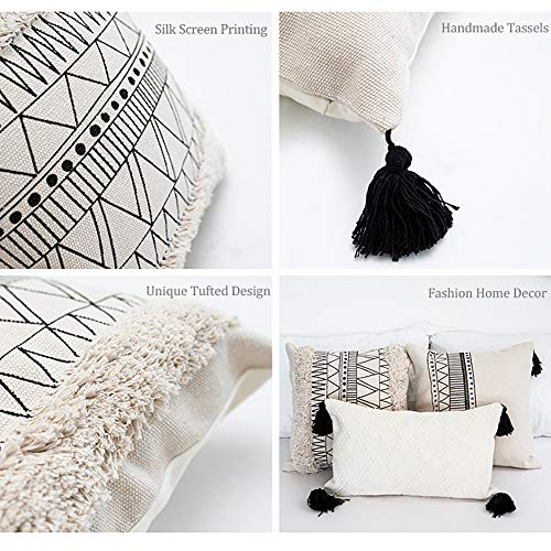 Buy black and cream decorative pillows