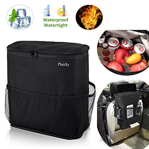 Car Seat Back Organizer and Cooler Set,Car bag organizer,Multi-Pocket Travel Storage Bag(Heat-Preservation and Waterproof),Bigger-Capacity-1Pack