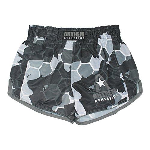 Anthem Athletics NEW! 10+ Styles RECKONER Retro Muay Thai Shorts - Kickboxing, Thai Boxing - Snow Camo Hex - Medium
