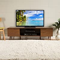Reginald Mid Century Modern TV Stand (Medium Wood Finish)