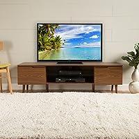 Reginald Mid Century Modern TV Stand (Medium Wood Finish)