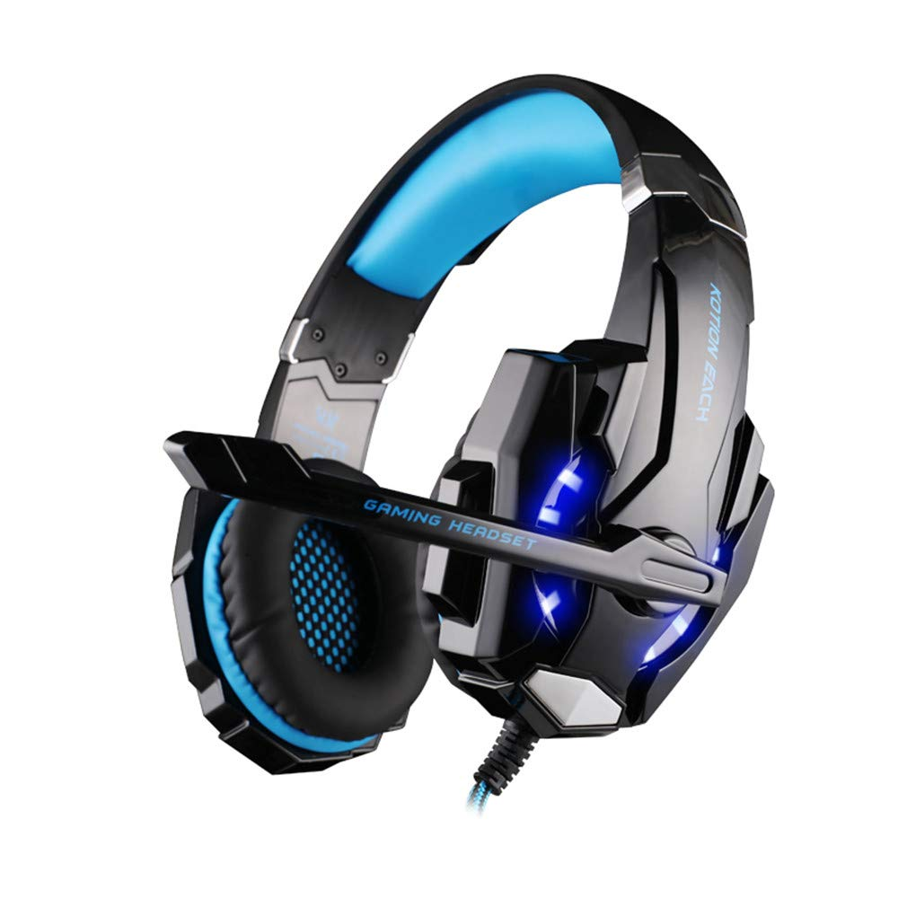 LED Light Gaming Headphone with Microphone, G9000 3.5mm Surround Stereo Game Earphone Noise Cancelling Mic for Laptop Tablet PS4 Mobile Phones (Blue) by NLDK-Headset (Image #8)
