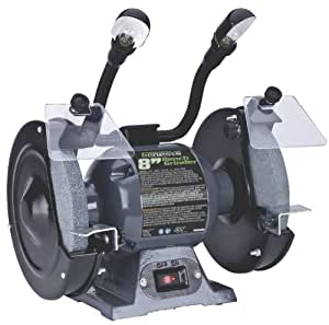 Genesis GBG800L Bench Grinder with Dual Light, 8-Inch
