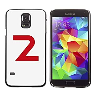 A-type Colorful Printed Hard Protective Back Case Cover Shell Skin for SAMSUNG Galaxy S5 V / i9600 / SM-G900F / SM-G900M / SM-G900A / SM-G900T / SM-G900W8 ( 2 Letter Number Second Minimalist )