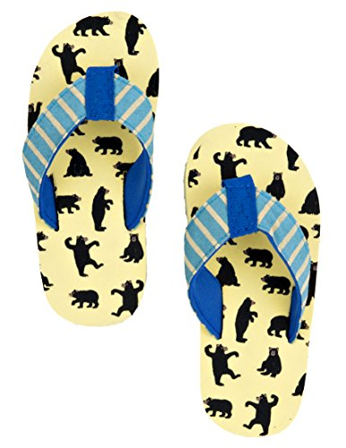 Hatley Lbh Kids Flip Flops-Boy Bears On Natural, Chanclas para Niños Blanco - Off White (Off White)