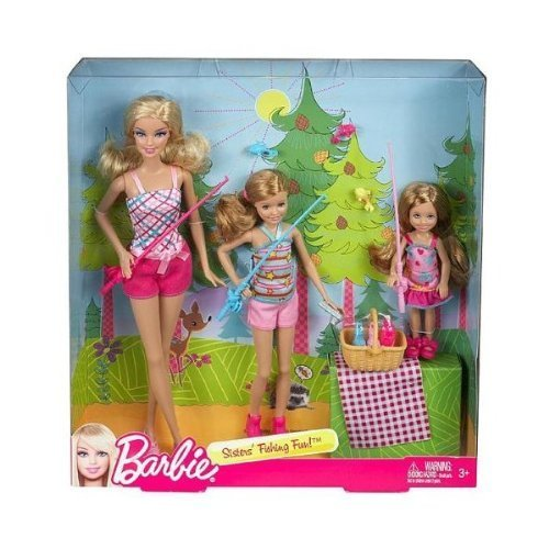 ing Fun! Set of 3 (Barbie, Stacie, Chelsea) (Barbie Camping Family Doll)