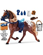[US Deal] Save on Sunny Days Entertainment Blue Ribbon Champions Deluxe Horse: Appaloosa Toy. Discount applied in price displayed.