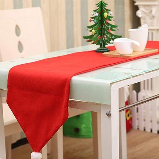 Enfei Lindo Mantel de Navidad, decoración de Sombrero de Mesa ...