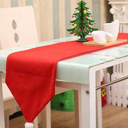 Enfei Lindo Mantel de Navidad, decoración de Sombrero de Mesa, decoración no Tejida, Adornos de la Bandera de la Mesa: Amazon.es: Hogar