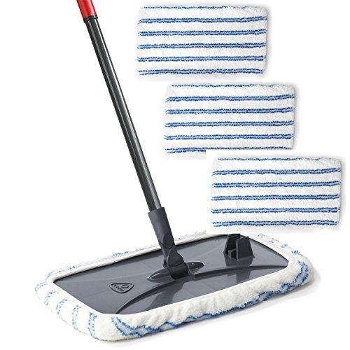O-Cedar Hardwood Floor N More Microfiber Mop With 3 Extra Refills (Quickie Hardwood Floor Mop)